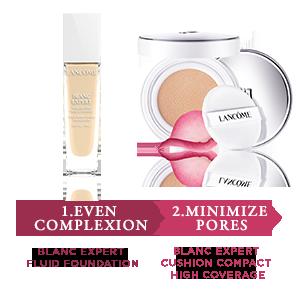 1.Even complexion - 2.Minimize Pores