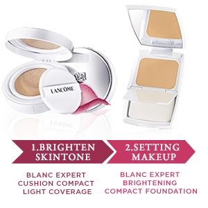 1.Brighten skintone - 2.Setting makeup